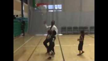 Kid Gets His Shot Blocked By His Coach