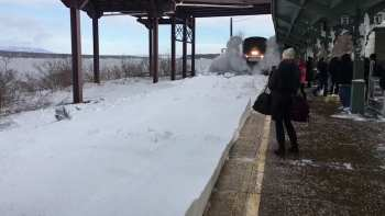 The Footage Of This Train Colliding With Heaps Of Snow Is Surprisingly Poetic