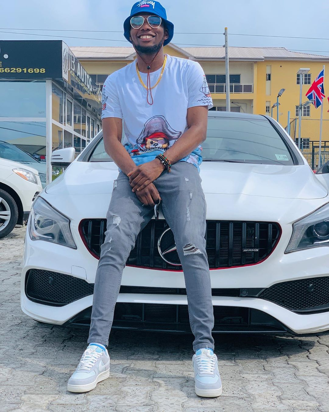 Victor ad acquires new benz