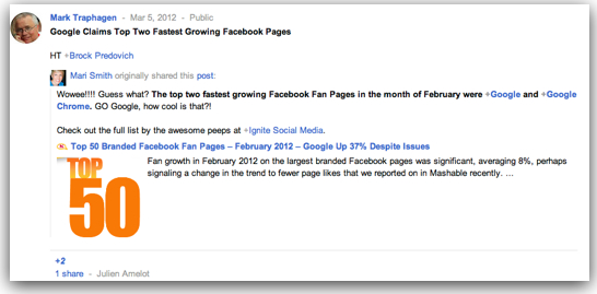 Fastest Growing Facebook Pages Example 2