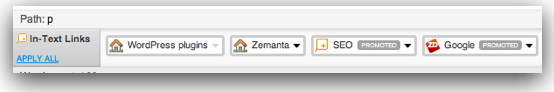 Zemanta suggested in-text links