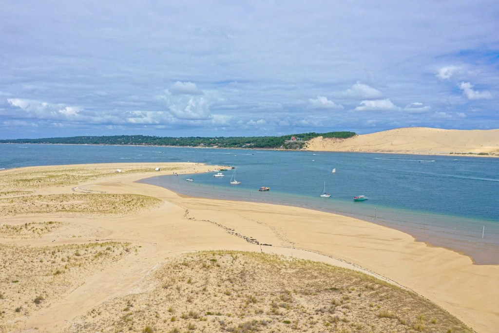 Arcachon bay - view from above on the Great Dune of Pilat - The tallest sand dune in Europe