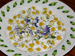 Dried chamomile is good for tea, or just to inhale the smell for some instant pleasure.