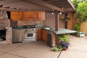 patio landscaping where to put a bbq