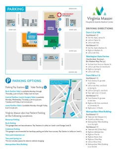 Parking at the seattle main clinic also virginia mason patient valet garages rh virginiamason