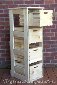 DIY Crate Cabinet with Sliding Drawers - Sweet Pea