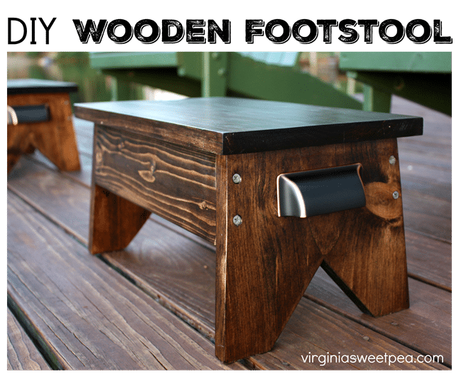 diy footstool sweet pea