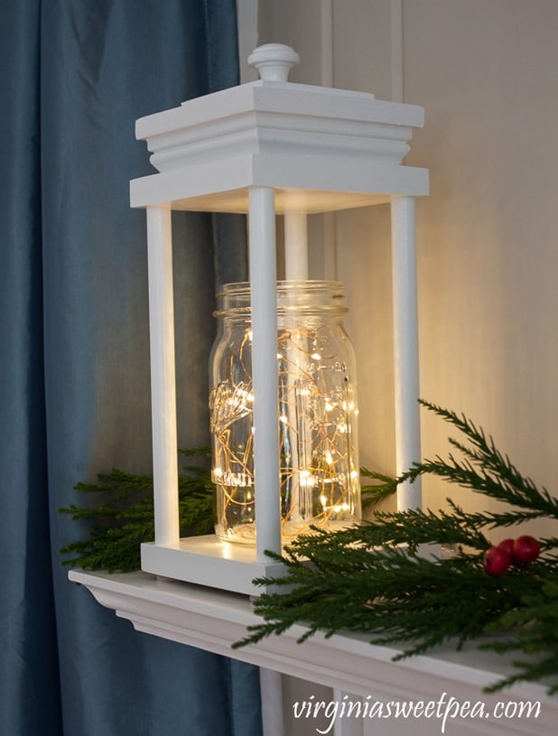 pictures of living room decorated for christmas coastal rooms diy wood lanterns - sweet pea