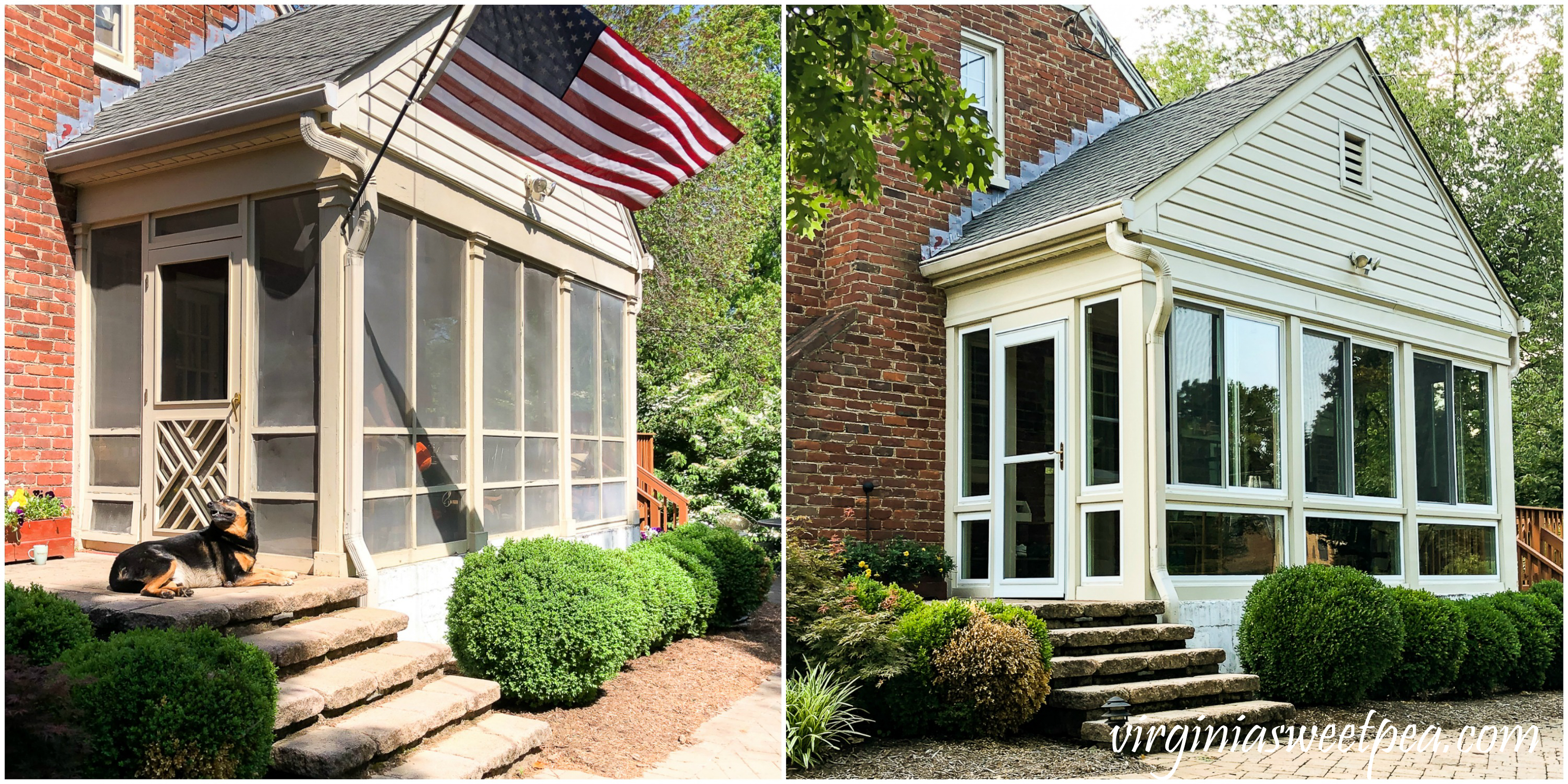 converting a screened porch to a