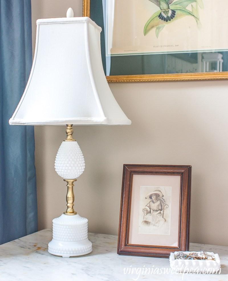 Milk Glass Lamp Makeover