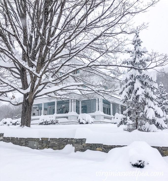 Woodstock, Vermont in the snow