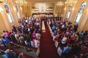 Wedding at Virginia Wingard Memorial Methodist Church