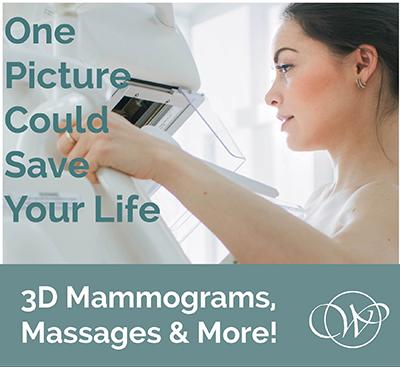 Mammograms  Massages Image for website  Virginia Womens