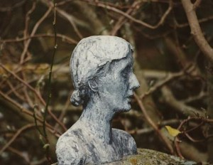 Bust of VW in Monk's House garden