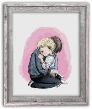 Portrait dessin enfant cadre cadeau immortaliser moment photo
