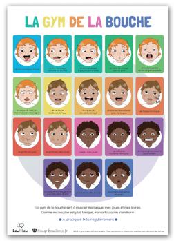 Affiche petite enfance Bougribouillons - La gym de la bouche