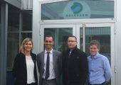 Visite de Delpharm avec le Maire et le Premier-Adjoint au Maire de Gaillard