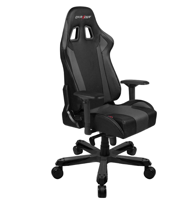 pc game chair positions for extraction dxracer king series black gaming chairs accessories virgin megastore