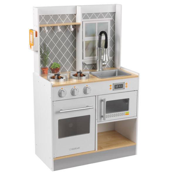kid craft kitchen houzz outdoor kitchens kidkraft let s cook wooden play white dollhouses