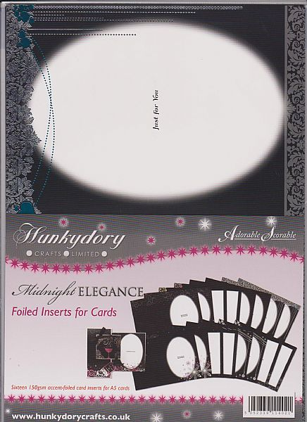 Hunkydory Midnight Elegance Foiled Inserts For Cards