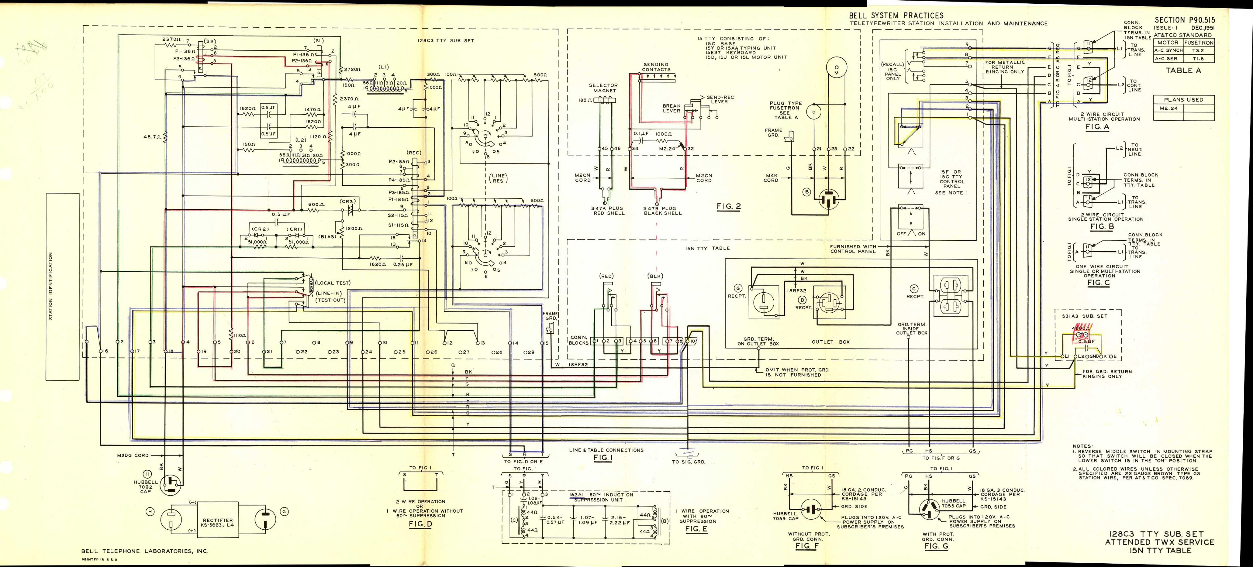 automotive wiring diagrams manual vdo water temp gauge diagram teletype corp. maintenance, installation, operation, and parts publications