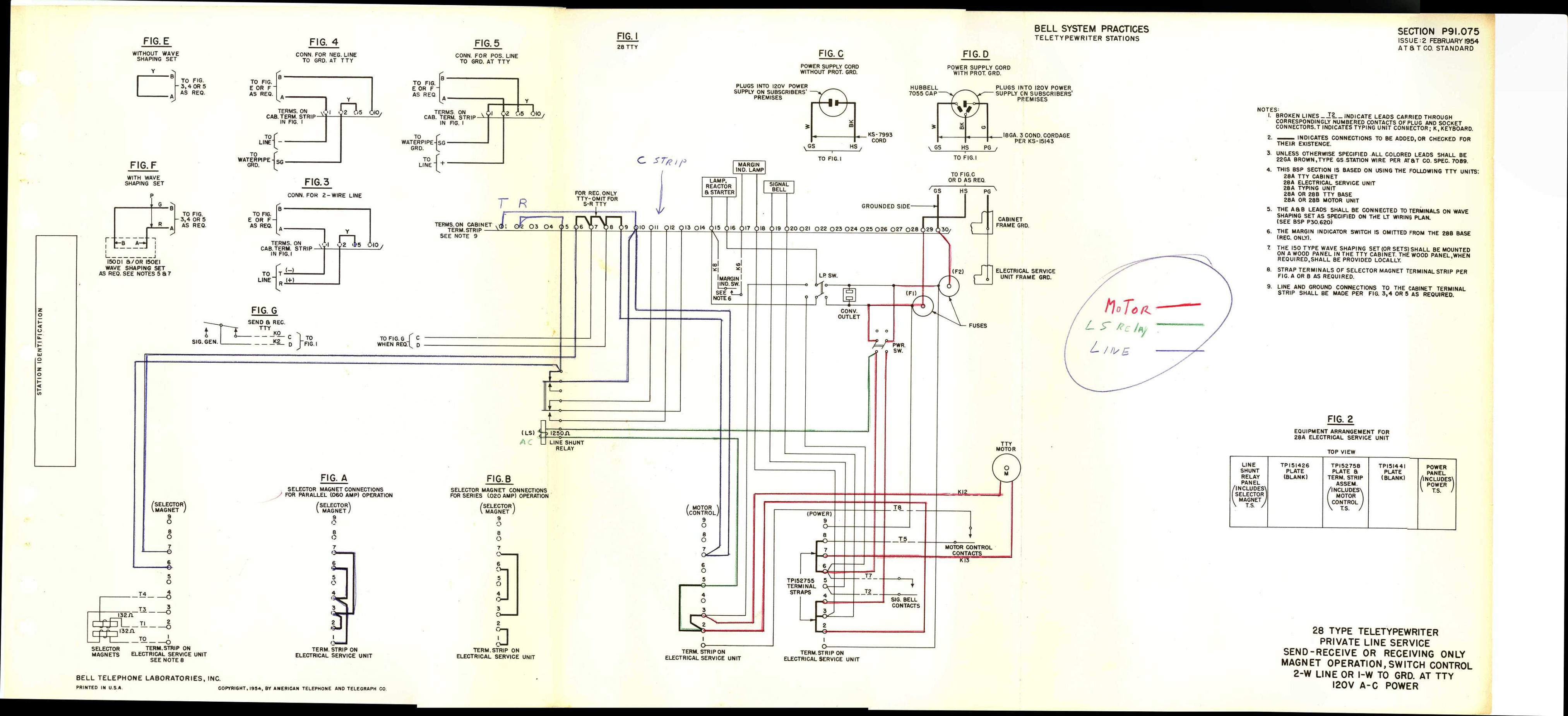 110 sub panel wiring diagram solar light teletype corp. maintenance, installation, operation, and parts publications