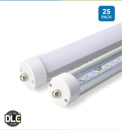 8 ft t8 led tubes retrofit bypass direct frosted clear single 8 foot fluorescent light fixture wiring [ 1200 x 1320 Pixel ]