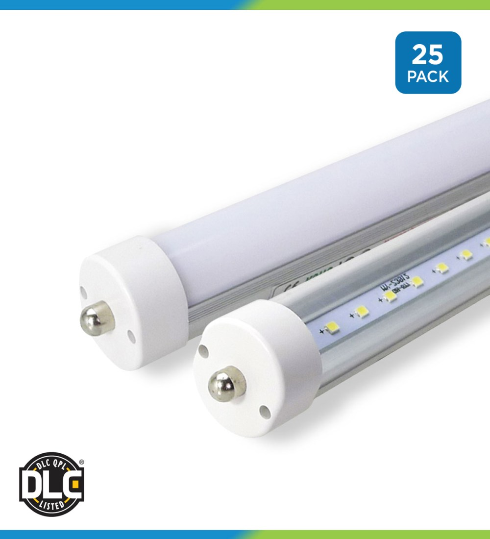 medium resolution of 8 ft t8 led tubes retrofit bypass direct frosted clear single 8 foot fluorescent light fixture wiring