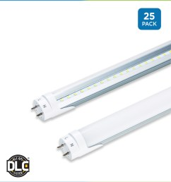 t8 led ballast bypass direct wire tubes 25 pack 4 foot [ 1200 x 1320 Pixel ]