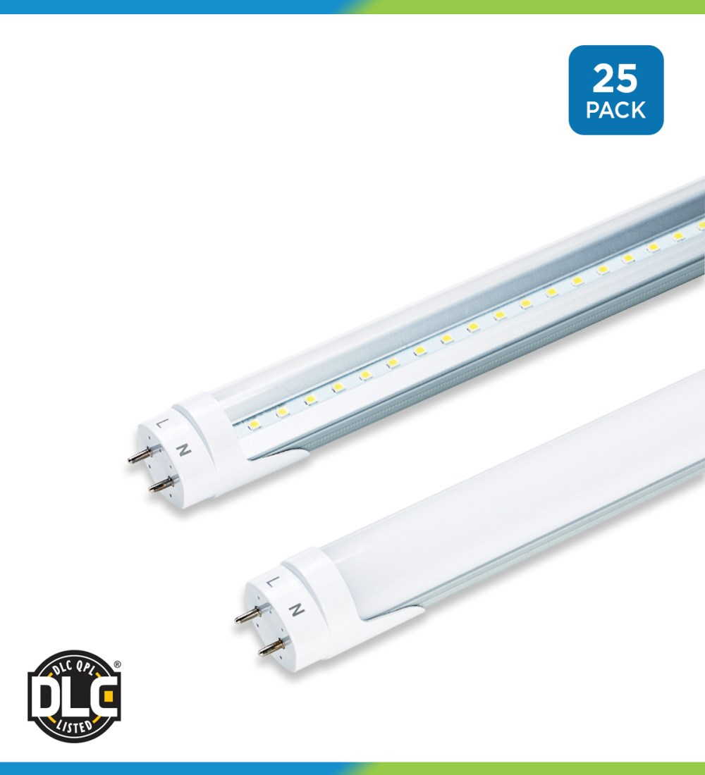 medium resolution of t8 led hybrid tubes 25 pack ballast compatible bypass 4 foot sylvania ballast wiring on wiring 277 volt fluorescent light fixtures