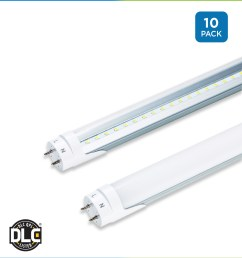 t8 led tubes 4 foot pack of 10 ballast bypass direct wire wiring 277 volt fluorescent light fixtures wiring get free image [ 1200 x 1320 Pixel ]
