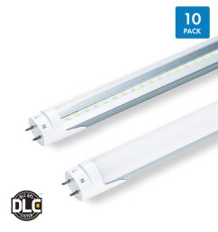 t8 led hybrid tubes 10 pack ballast compatible bypass 4 foot [ 1075 x 1200 Pixel ]
