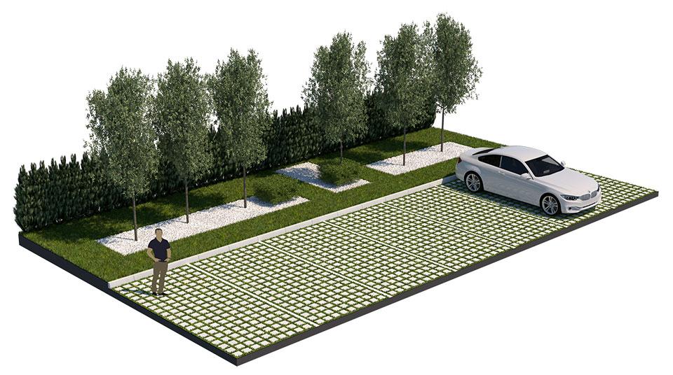 Шоурум и автосервиз на BMW и MINI - Растителност