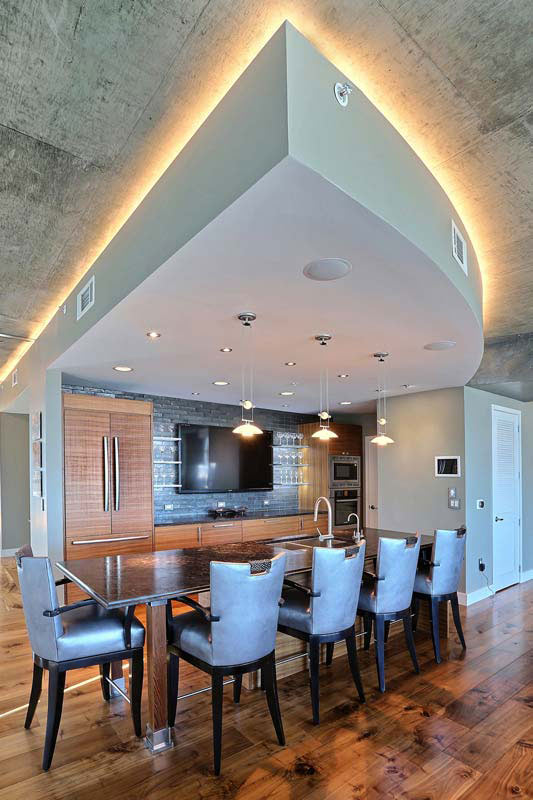 Penthouse Lounge  Bar Area  Interior Designer Denver CO