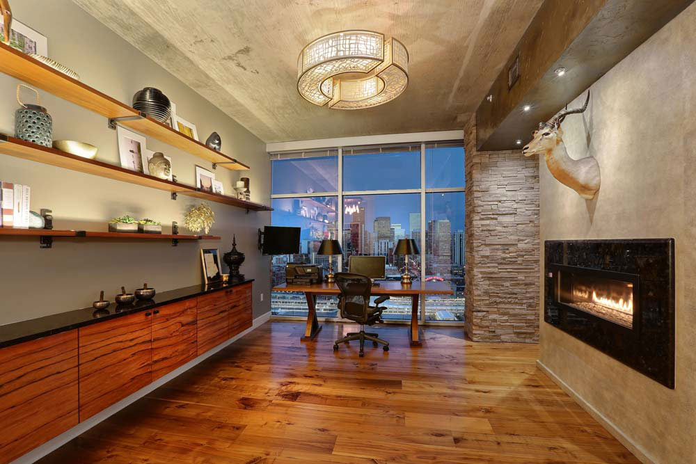 Penthouse Lounge  Bar Area  Interior Designer Denver CO