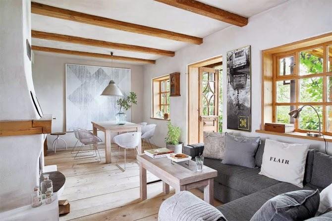 Interior Madera y decoracin natural en una vivienda que nos traslada a la Toscana  Virlova Style