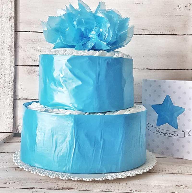 tutorial per realizzare una torta di pannolini per baby shower