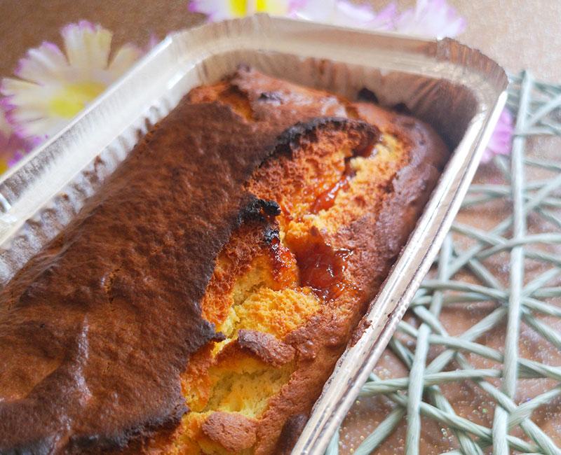 plumcake dolce ricotta e marmellata di pesche virosac magazine pronto da mangiare