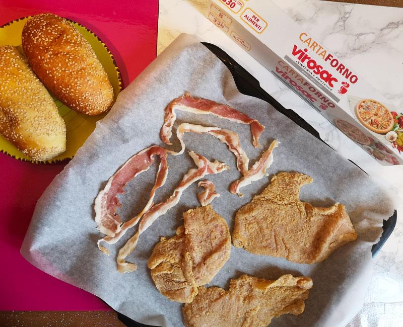panino con cotoletta virosac magazine carta forno