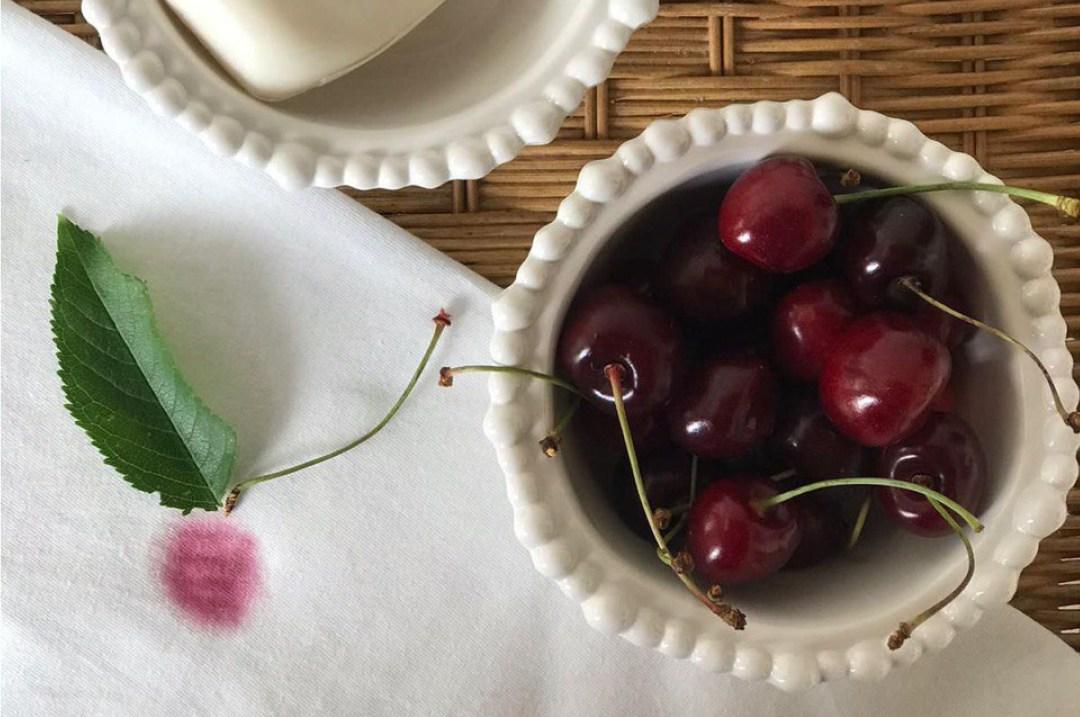Eliminare macchie di ciliegie