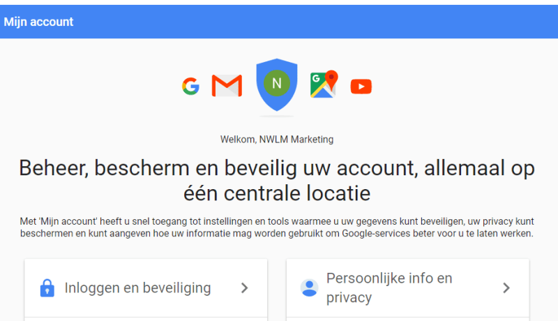 Google mijn account
