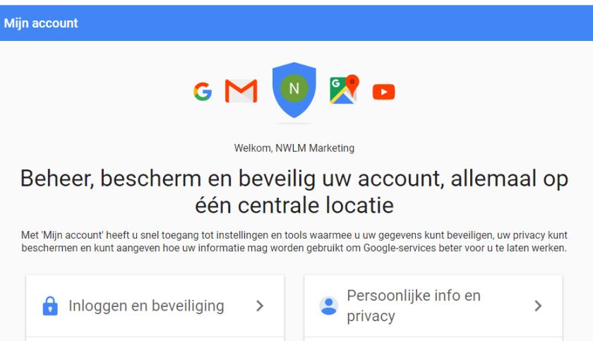 Google mijn account