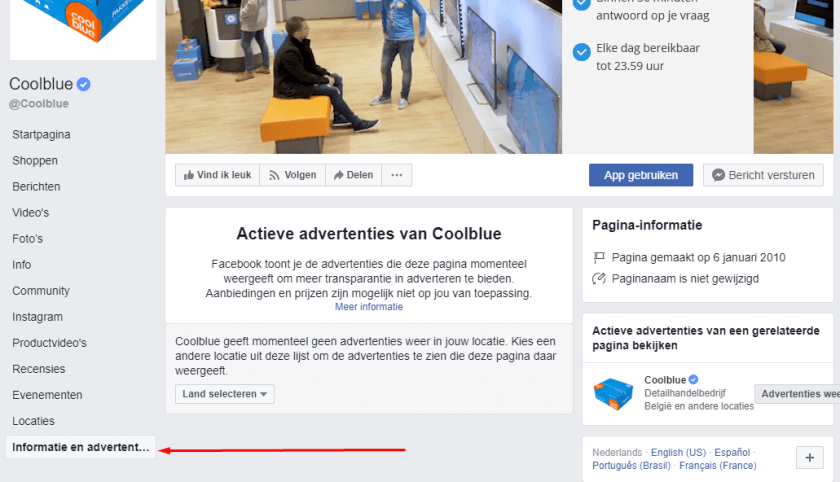 Coolblue Facebook Ads
