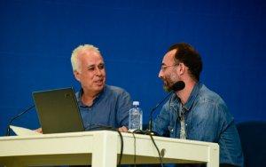 El director del Club La Provincia, el periodista Javier Durán, con Pepe Naranjo. La foto es de Sabrina Ceballos (La Provincia).