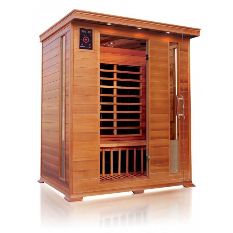 Sauna infrarossi a pannelli di carbonio per 3 persone in