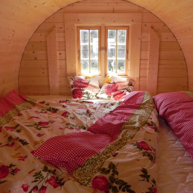 Gazebo in legno da giardino campeggio a botte 4x24m
