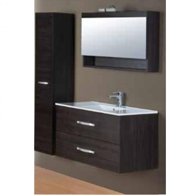 Set mobile bagno con lavabo e specchio con aplique e