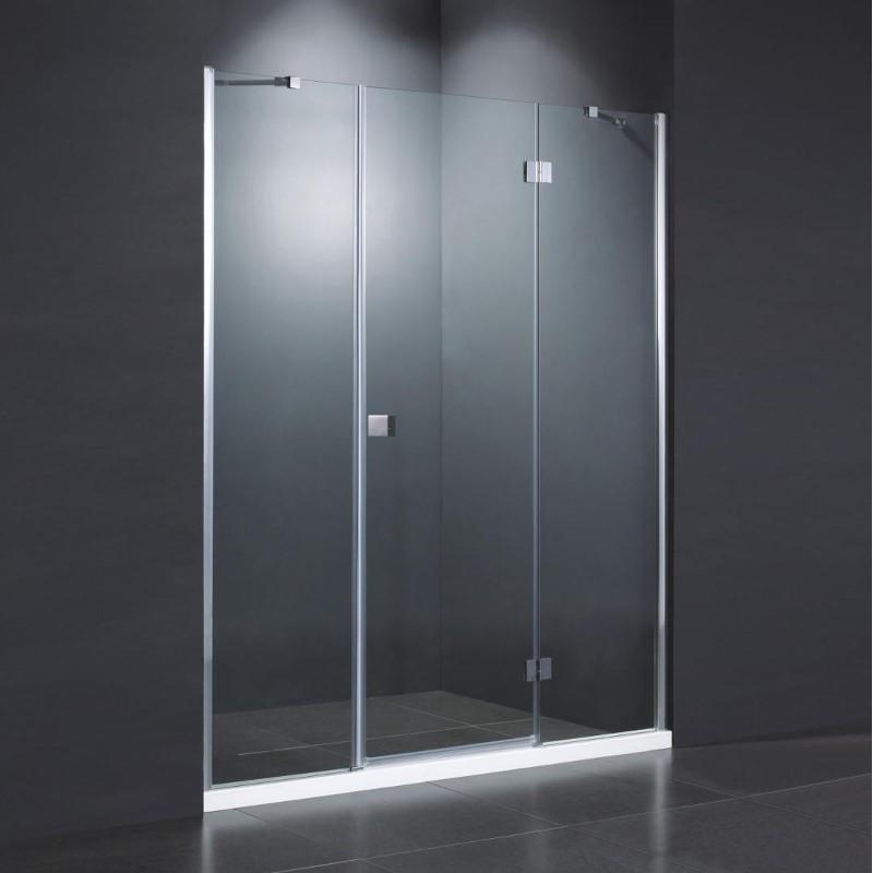 Parete doccia vetro per nicchia anta battente 8mm 160 cm offerta