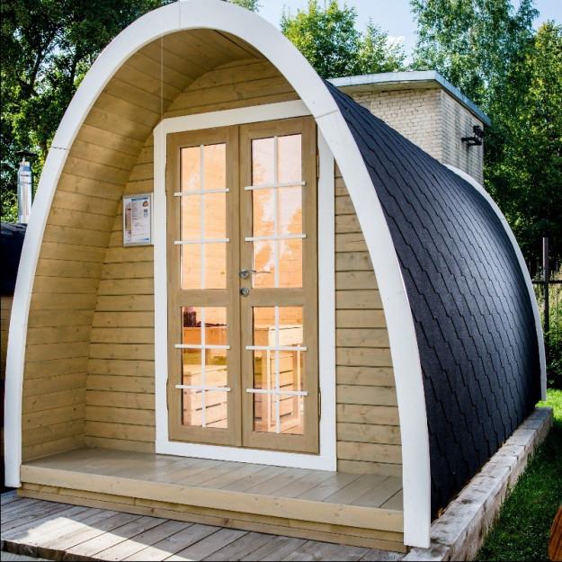 Gazebo in legno casetta bungalow da giardino a iglu 75mq
