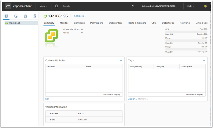 Deploying the VMware vCenter Server Appliance (VCSA) 6.5